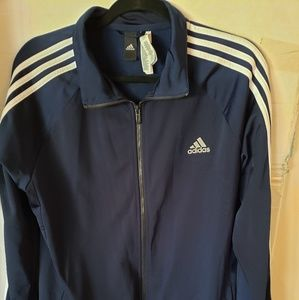 Authentic blue and white track jacket
